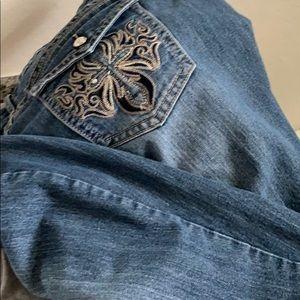 Jean Capri denim jeans